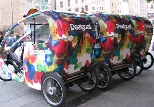 Rickshaw desigual, Barcelone