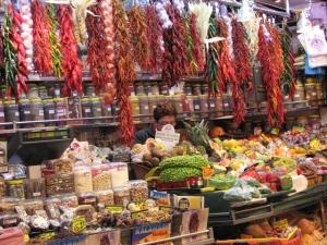 Etal du marché de la Boquería, La Rambla